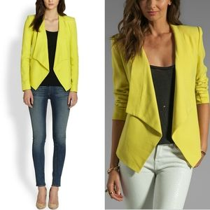 BCBG MaxAzria Lime Green Abree Blazer Jacket XS